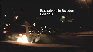 Bad Drivers in Sweden #113 Taxi cause accident, stressed drivers, etc.