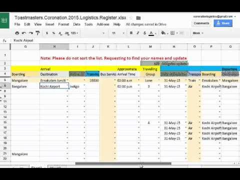 Coronation 2015 Kochi (Logistics Guide)