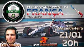 F1 ESPORTS 2019 | LIGA PRORACE | F1 2018 XBOX SPRINT CODEMASTERS | GRANDE PREMIO DA FRANÇA
