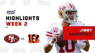 Jimmy Garoppolo's Dominates w/ 3 TDs | NFL 2019 Highlights