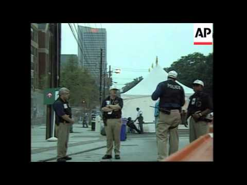 USA: ATLANTA: SECURITY TIGHTENED AT OLYMPIC VILLAGE AFTER BOMB BLAST