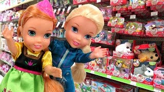 Toy Hunt with Elsa & Anna toddlers ! Lots of toys and dolls ! Hunting and Playing