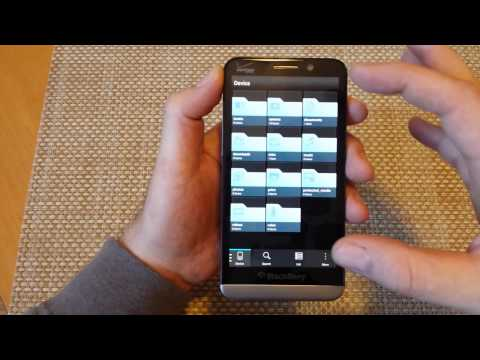Blackberry Z30 Move files folders photos from INTERNAL MEMORY to external SD card storage Z10 Q10