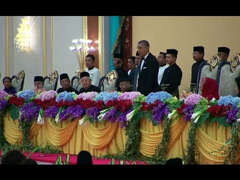 President Obama Speaks at a State Banquet with His Majesty King Halim of Malaysia