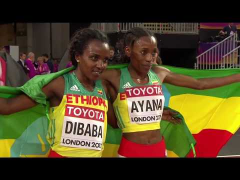 Almaz Ayana wins the 10000m final at the 2017 IAAF world championship final 2017 in London.