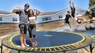 TEACHING MY GIRLFRIEND HOW TO BACKFLIP!