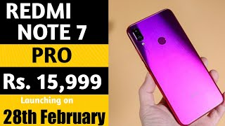 Redmi Note 7 Pro price & Launch date in India | Official First look | Redmi note 7 vs Note 7 Pro.