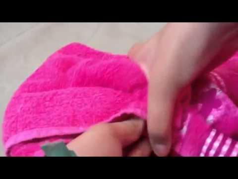 Laço de toalha de rosto