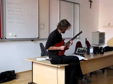 Alex Machacek - kitarska delavnica glasbenešole Takt Ars - 2. del