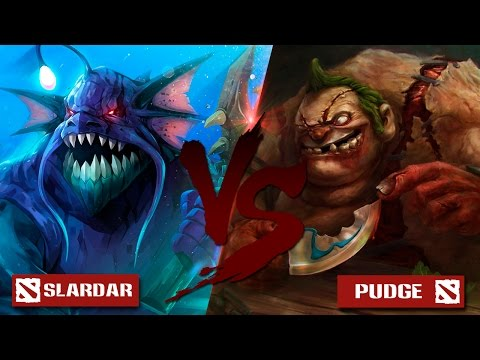 Slardar VS Pudge [Битва героев Mid only] Dota 2