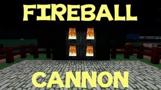 Minecraft Tutorial: How To Make A FireBall Cannon