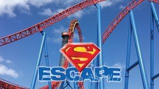 SUPERMAN Escape - Movie World (Gold Coast, Australia) 2017 HD