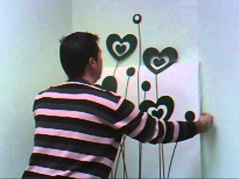 Aplicación de vinilo sobre una pared lisa 2011