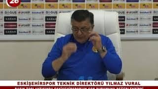 Eskişehirspor Teknik Direktörü Yılmaz Vural Basın Toplantısı