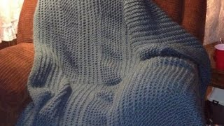 Cozy Wool Loom Knitted Blanket Beginning to End