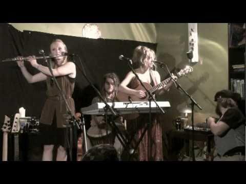 "Tara Stadnyk & Alison Stadnyk of Jiva Tree perform ""Save Me"", Bacchus Books & Cafe, Golden BC"
