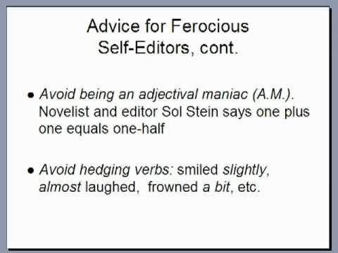 How to Become a Ferocious Self-Editor | Writer's Digest Tutorials