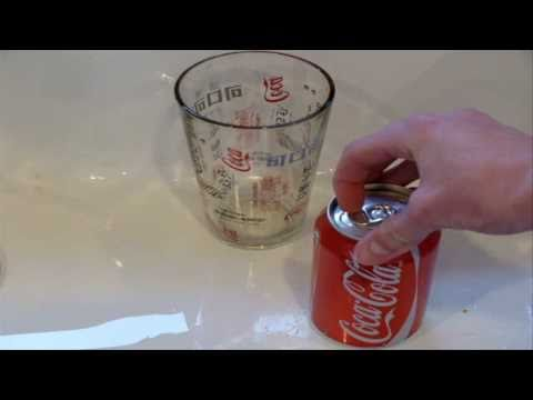 How to empty a Coke can without opening it