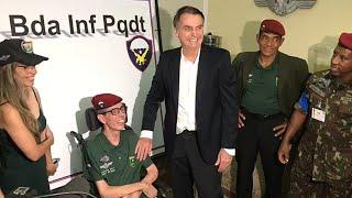 NÃO PASSARÁ NA GLOBO: Bolsonaro FAZ QUESTÃO de aplaudir deficiente da Infantaria Paraquedista
