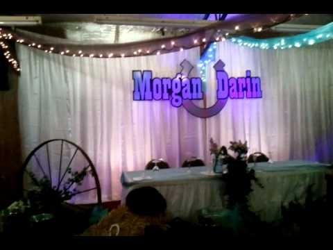 Western themed wedding reception. - YouTube