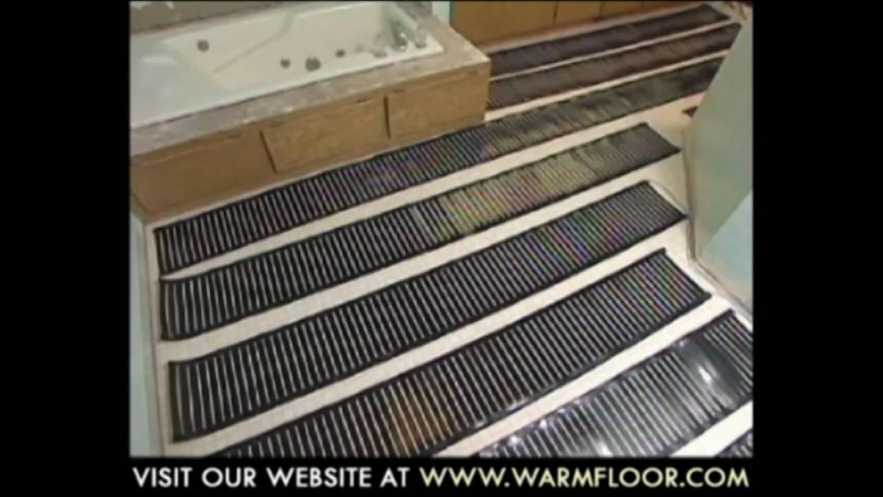 Step Warmfloor Installation Video Youtube