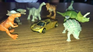 Dino's and cars with Daniel