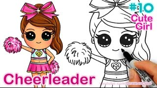 How to Draw Chibi Cheerleader step by step Cute Girl