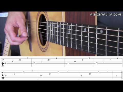 FP 06 - ARPEGIOS LECCION GUITARRA FACIL PRINCIPIANTES APRENDIZ FINGERPICKING leer tablaturas tabs