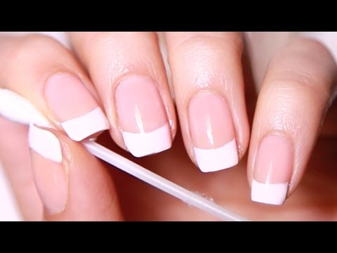 DIY French Manicure (salon nails at home)