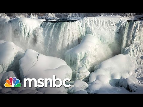 Niagara Falls Nearly Freezes Over | msnbc
