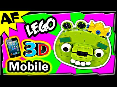 3D Mobile KING PIG - Lego Angry Birds Animated Review with Building Instructions