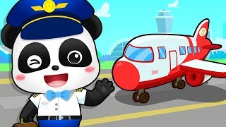 Little Pilot Flying Airplane | Police Cartoon, Jobs Song | Kids Songs | Kids Cartoon | BabyBus