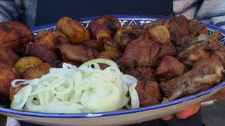 Рецепт. Запеченное мясо в казане, на огне, готовим с сайтом www.picnik.by.