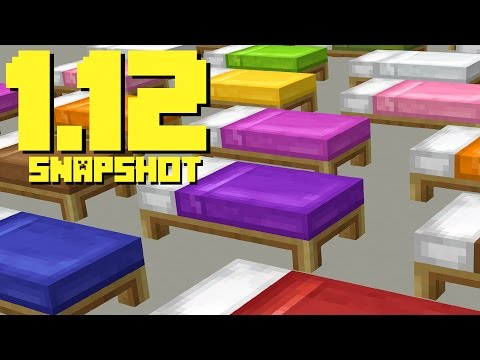 NEW MINECRAFT BEDS!! MINECRAFT 1.12 SNAPSHOT UPDATE