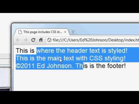 CSS Website Design Tutorial - #1 Introduction to CSS