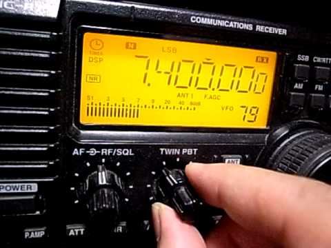 7400kHz Radio Bulgaria Russian Programme : Icom IC-R75