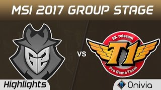 G2 vs SKT Highlights MSI 2017 Group Stage G2 Esports vs SK Telecom T1 by Onivia