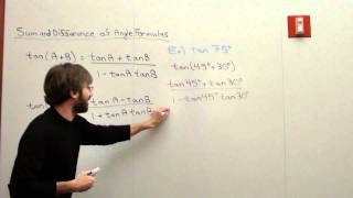 Free Math Lessons Sum and Difference Formulas Tangent Case