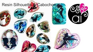 Resin Silhouette Cabochon Tutorial | DIY Resina Facile
