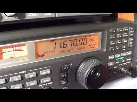 Shortwave All India Radio news on Icom IC R8500