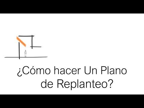 ¿Cómo Hacer Un Plano De Replanteo? Arquitecto Martín Bonari