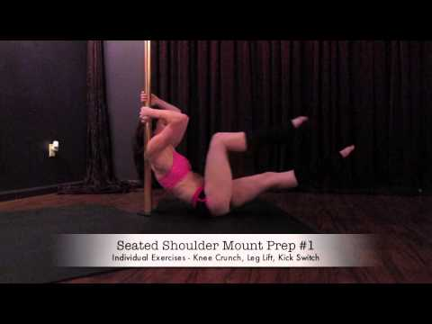 Beginner pole fitness strengthening exercises