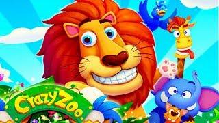 Crazy Zoo/Сумашедший зоопарк.Больной крокодил.Модный лев.Прыгающий слон игра как мультик