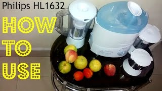 Philips HL1632 500 Juicer Mixer Grinder How to use video / Review | Indian Consumer