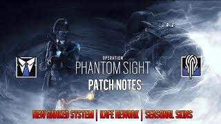 Operation Phantom Sight Patch Notes - Nokk | Warden | Seasonal Skins - Rainbow Six Siege
