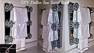 DIY Dollar Tree Home Decor Towel Rack / Bathroom  or Kitchen