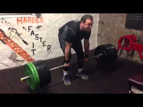 SOS dead lift PB - Tony Reilly 170kg