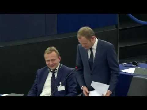 NIGEL FARAGE 2015 - LEAVES POLISH MEP SPEECHLESS TO THE POINT OF AWKWARD AT THE EU CHAMBER!!