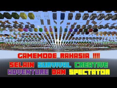 """DEBUG MODE"" GameMode Rahasia Selain Survival Creative Adventure Spectator -  Minecraft Tutorial #2"