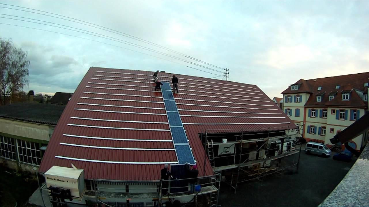 installation einer 30 kw photovoltaikanlage zeitraffer youtube. Black Bedroom Furniture Sets. Home Design Ideas